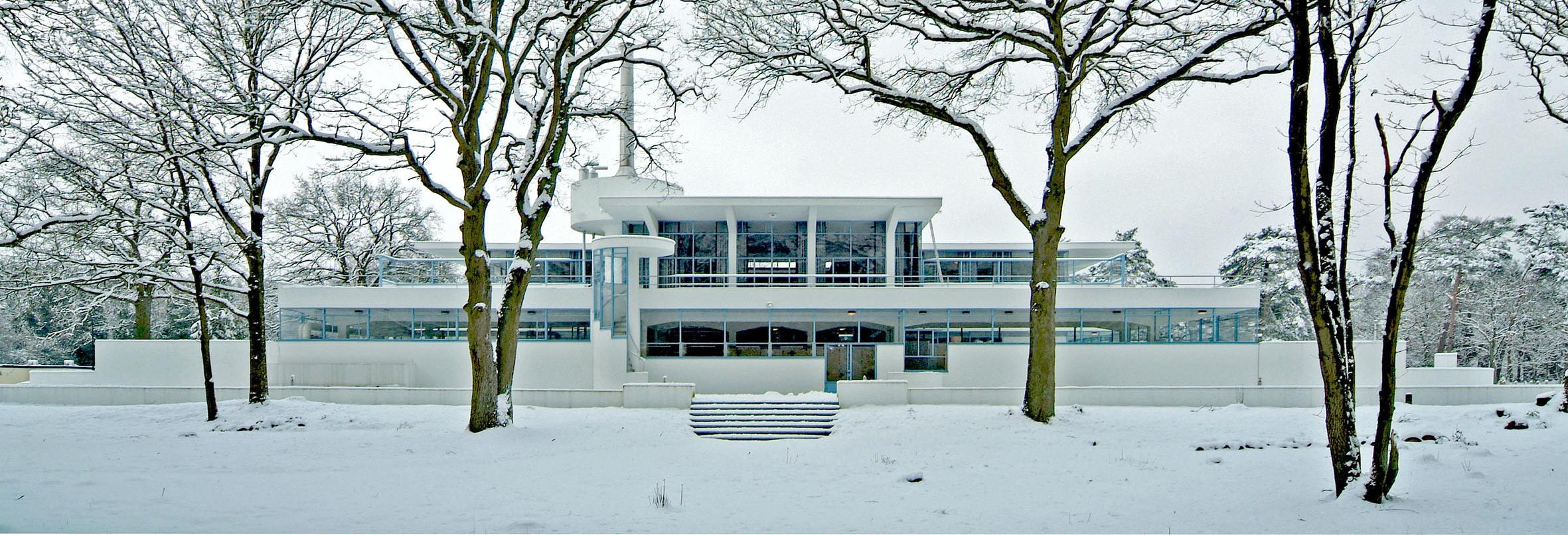 Zonnestraal in de sneeuw