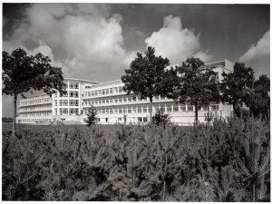 Sanatorium De Mick in Brasschaat in 1953. (Amsab-Instituut voor Sociale Geschiedenis)