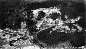 Zonnestraal luchtfoto eind jaren 60
